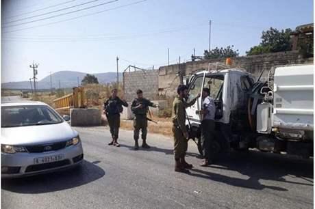 الاحتلال يستولي على شاحنة شرق نابلس