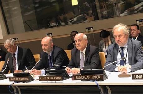 فلسطين تقود مجموعة 77  في المفاوضات حول قانون البحار